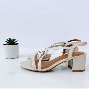 H&M Nude tone Heeled Sandals- Size 6 NWT
